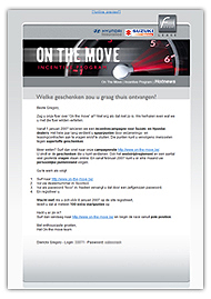 Favor On The Move - Incentive mail